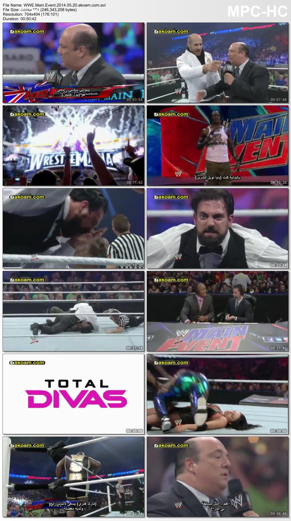 WWE Main Event,Main,Event,الأسبوعي,Event,جون سينا,ترابل اتس,الروو,مين ايفنت,سماك داون,سماك داوون