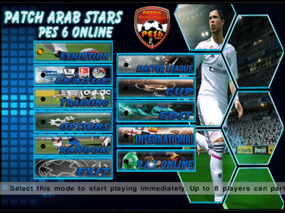 باتش,Patch Arab Stars Pes6,pes,pes 2006,بيس 2006