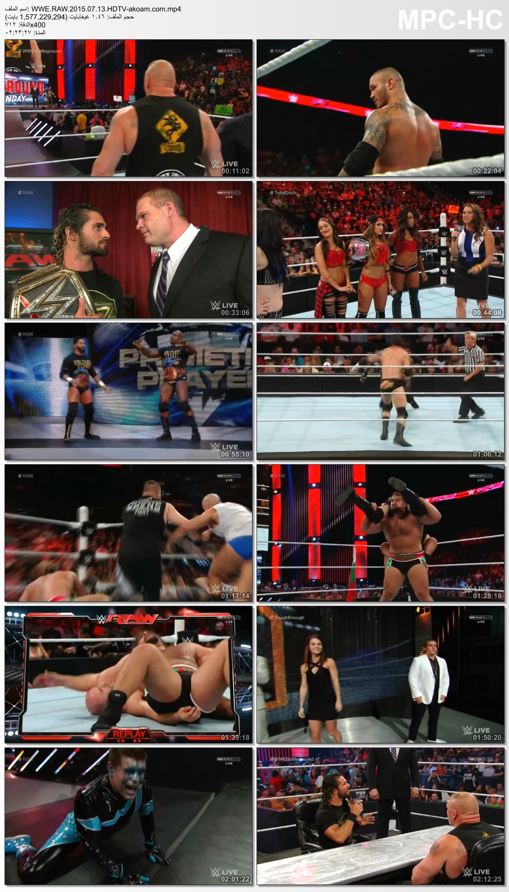 WWE,RAW,WWE Monday Night Raw 2015.07.13,WWE Monday Night Raw