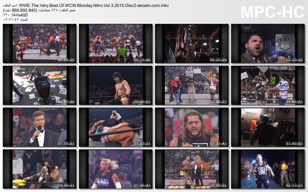 هوم فيديو,المصارعة الحرة,WWE The Very Best Of WCW Monday Nitro Volume,WWE The Very Best Of WCW Monday Nitro Volume 2015,WWE,WCW