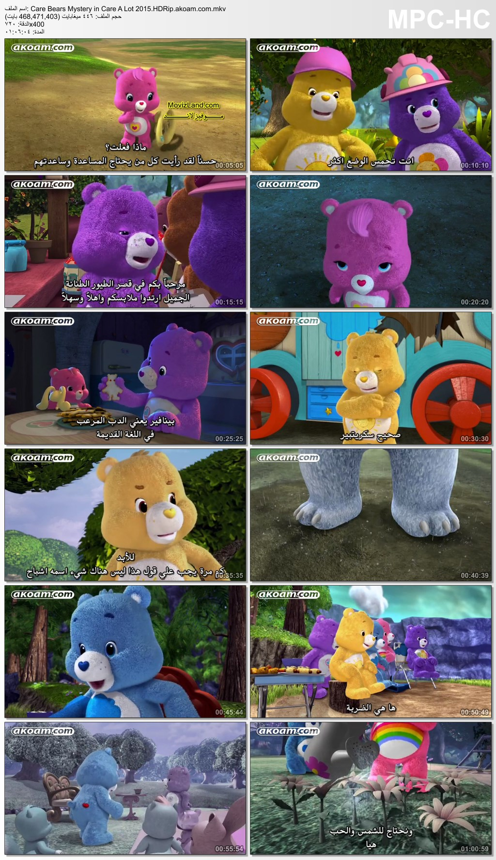 Care Bears Mystery in Care A Lot,الانيميشن