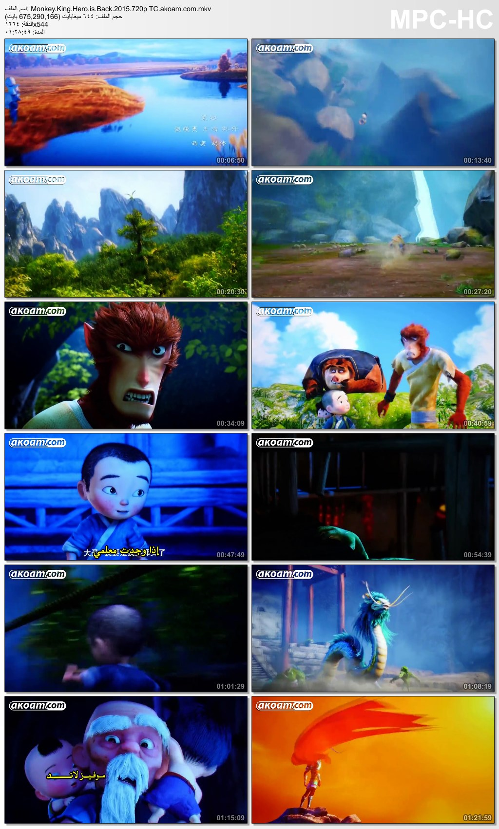 Monkey King: Hero Is Back,Monkey King: Hero Is Back  2015,الانيميشن,الانمي