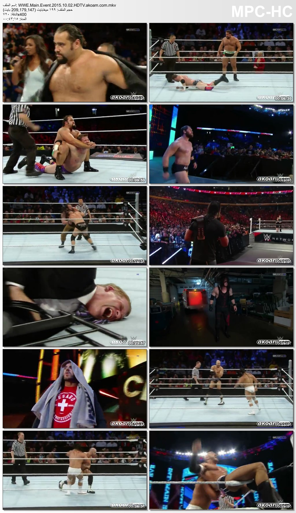 WWE Main Event,Main,Event,المين ايفنت,Main Event