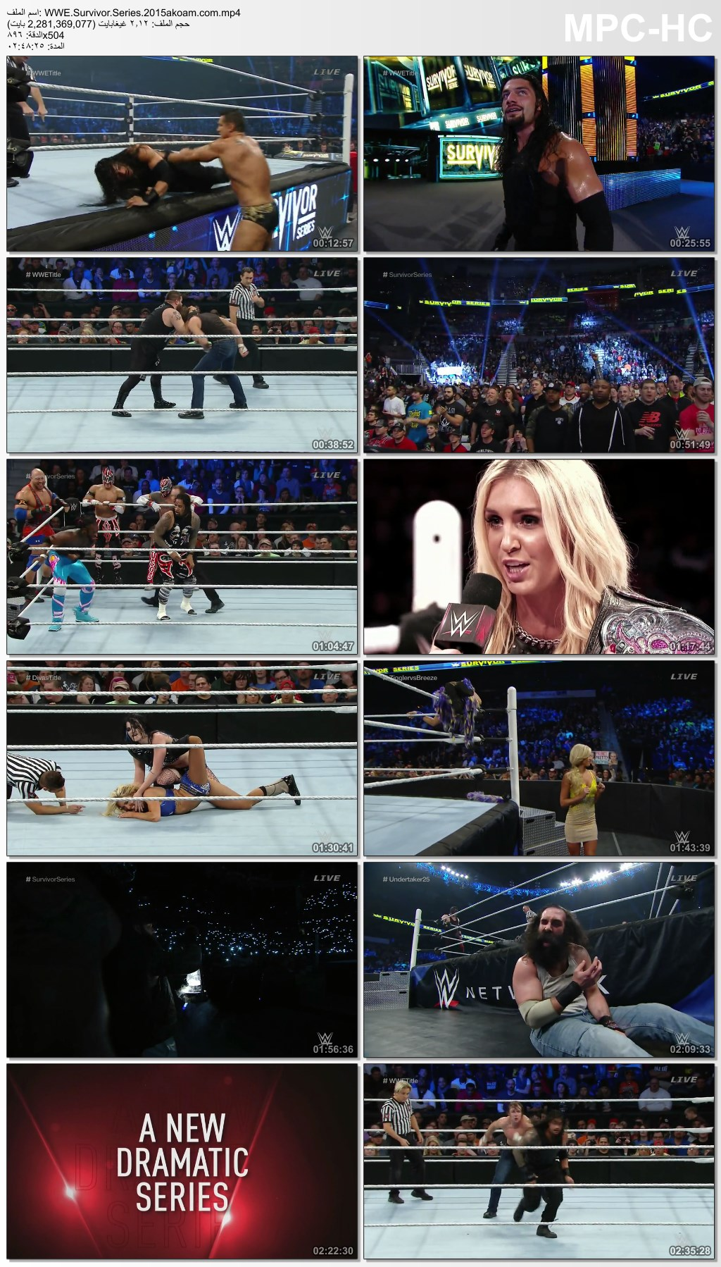 WWE Survivor Series 2015,Survivor,Series,WWE,Survivor Series 2015,Survivor Series,سرفايفر سيريس,سرفايفر سيريس 2015
