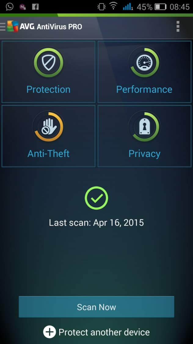 برنامج الحماية AntiVirus PRO Android Security v5.1.1