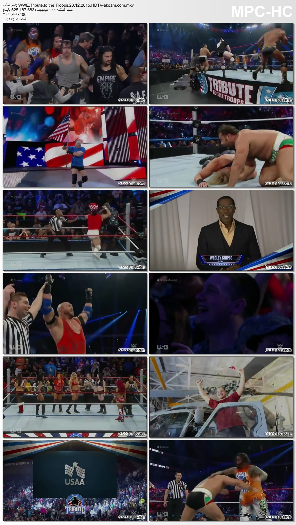 Tribute,Troops,WWE Tribute to the Troops,WWE,te to the Troops,التحية للجنود
