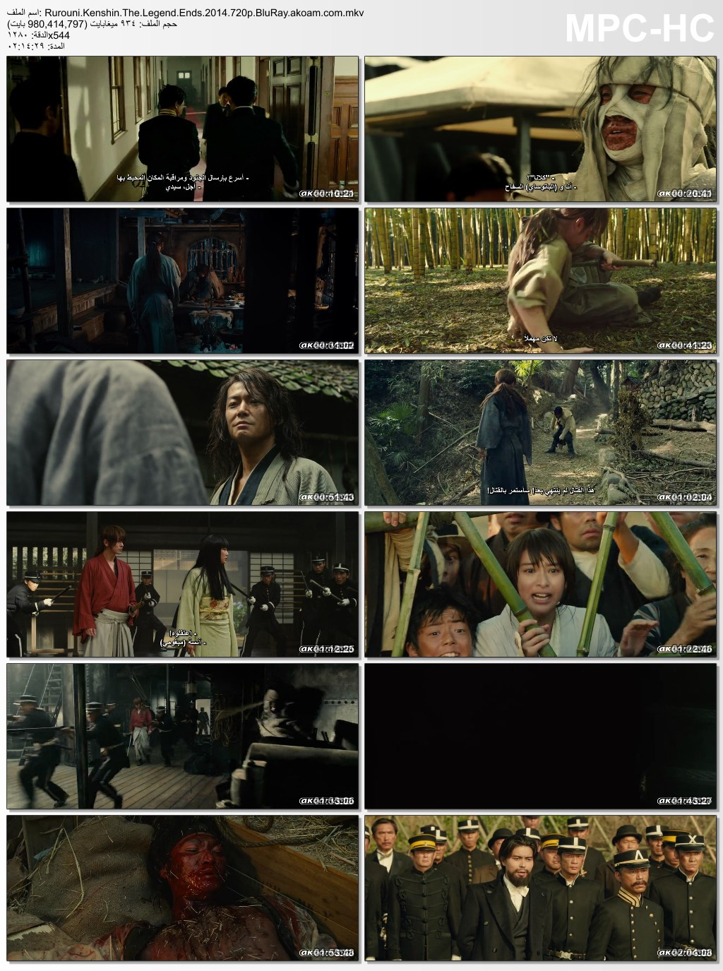 الأكشن,الكونغ فو,Rurouni Kenshin: The Legend Ends,Rurouni Kenshin