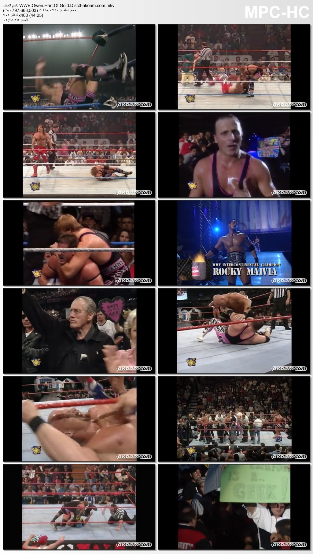WWE Owen Hart Of Gold,Owen,Hart,Gold,المصارعة,الحرة,WWE,أوين هارت