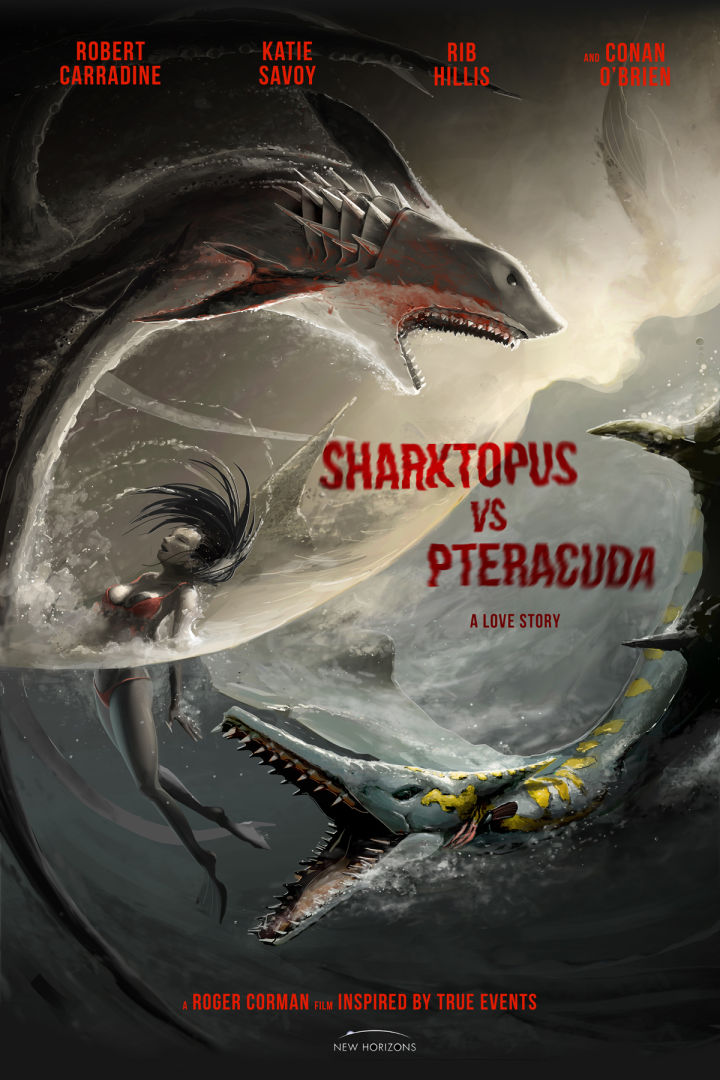 فيلم Sharktopus vs. Pteracuda 2014 مترجم