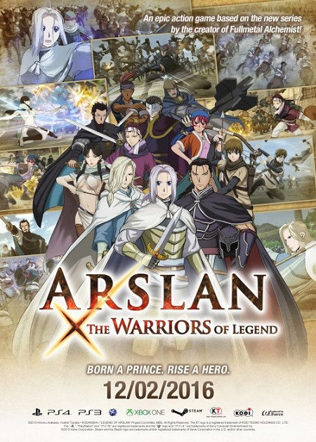 لعبة Arslan The Warriors of Legend ريباك فريق Black Box