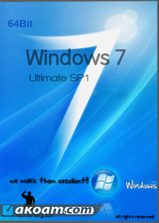 ويندوز Windows 7 Ultimate Sp1 ESD May 2016