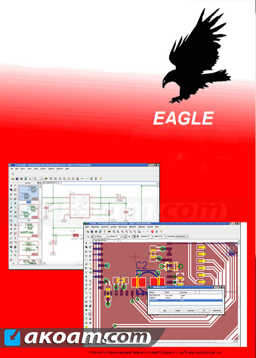 برنامج CadSoft Eagle Professional 7.6.0 Multilingual - اكوام