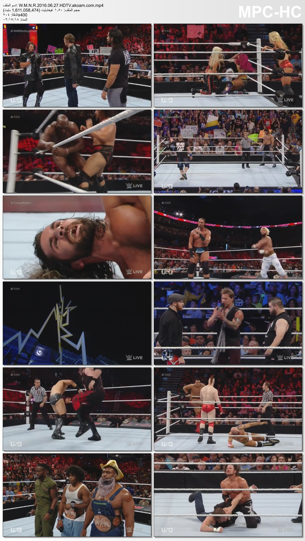WWE Monday Night Raw,WWE,Raw,Monday Night,الرو