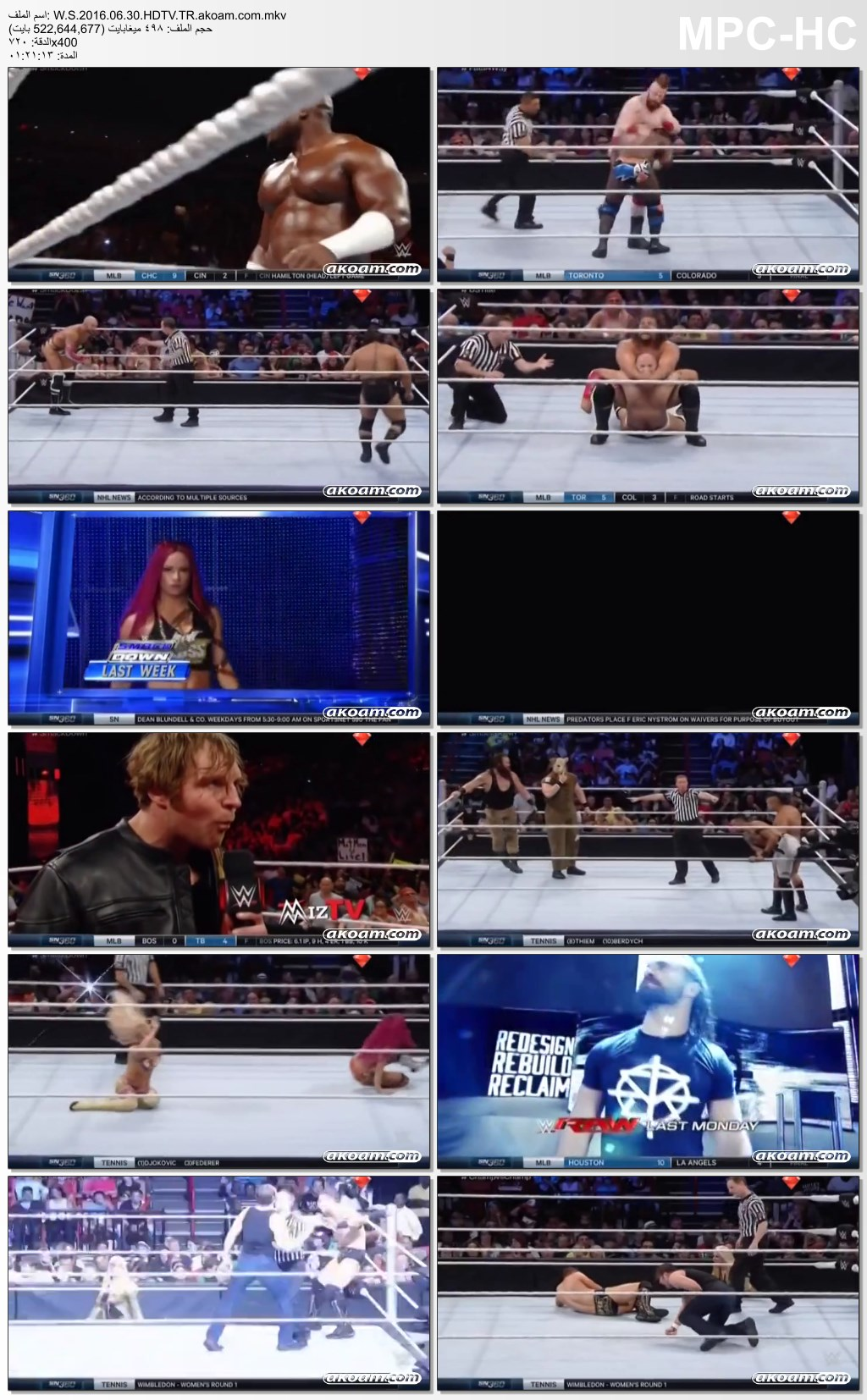 WWE Smackdown,WWE Smackdown 30.06.2016,سماك داون,WWE