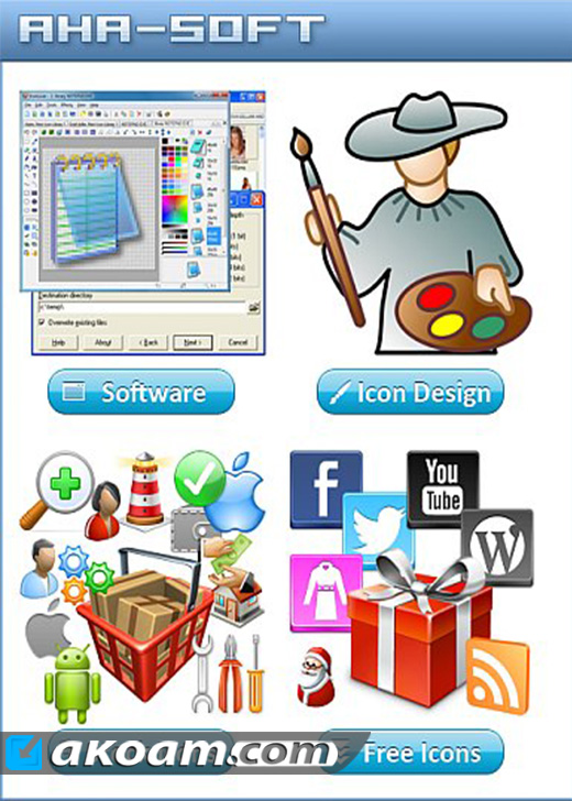 موسوعة الأيقونات 2016 Aha-Soft Icon Software Collection + Icon Pack
