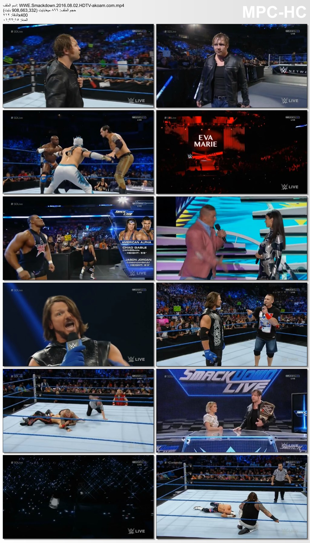 Smackdown,WWE Smackdown,WWE,مصارعة