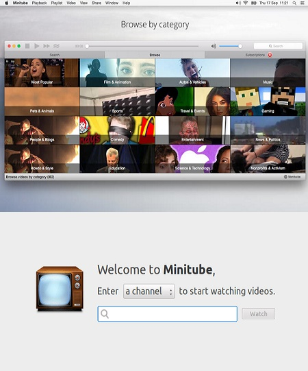 برنامج Minitube 2.5.2 Multilingual