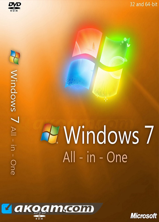ويندوز Windows 7 SP1 AIO August 2016