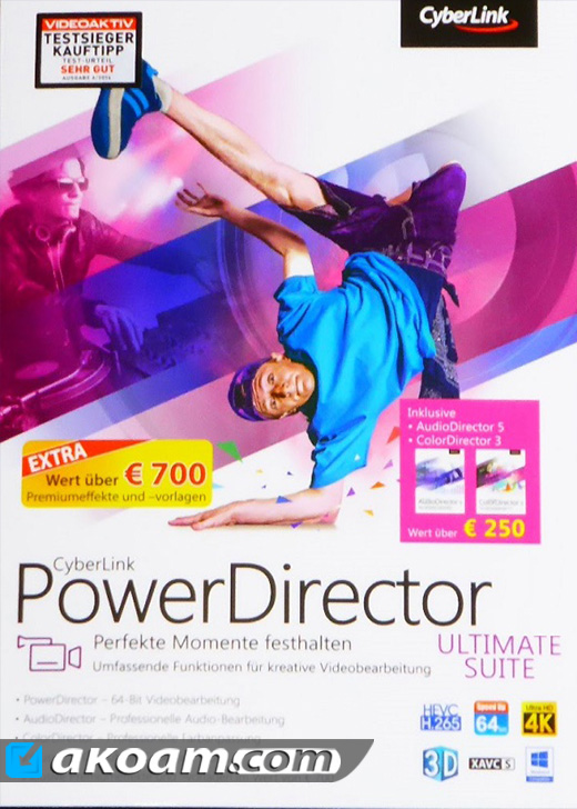 برنامج المونتاج CyberLink PowerDirector Ultimate 15.0.2026.0
