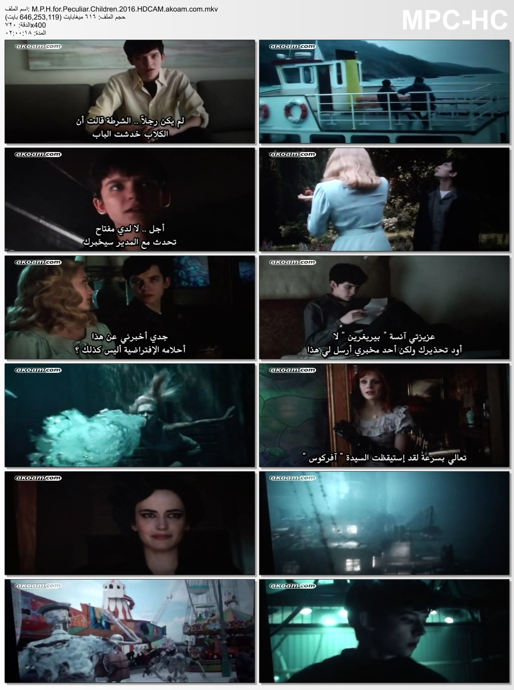 Miss Peregrine's Home for Peculiar Children,المغامرات,الدراما,الفانتازيا,العائلي,Miss Peregrines Home for Peculiar Children