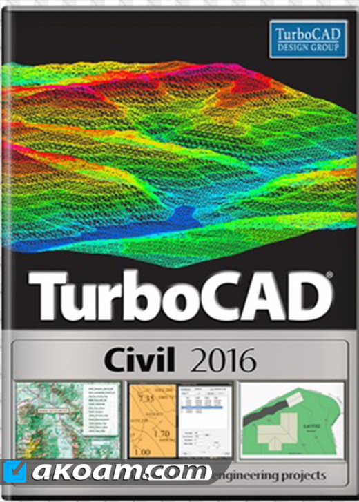 برنامج TurboCAD Civil 2016 23.2 Build 47.3
