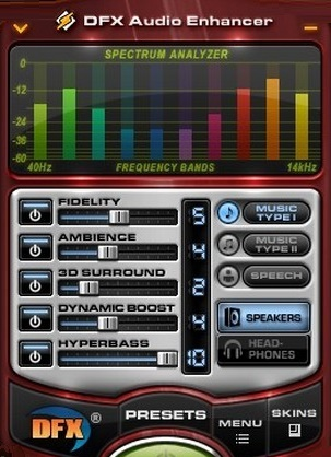برنامج DFX Audio Enhancer 12.023