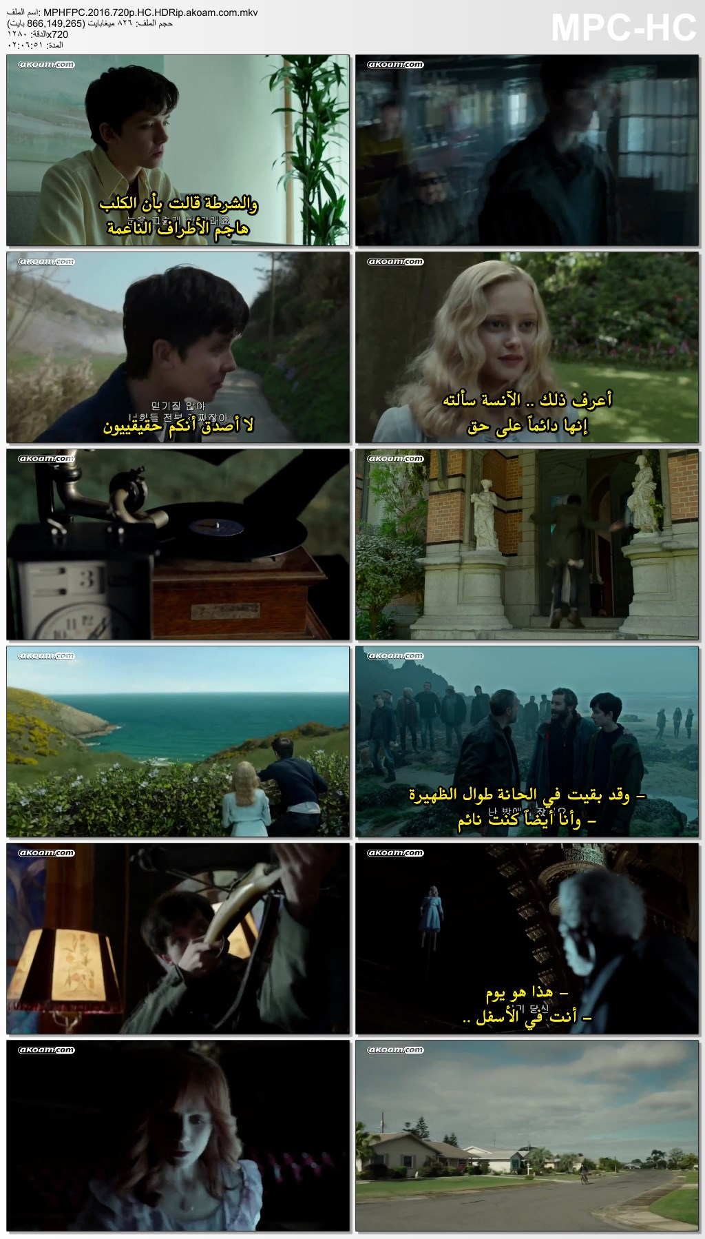 Miss Peregrine's Home for Peculiar Children,Miss Peregrines Home for Peculiar Children,المغامرات,الدراما,الفانتازيا,العائلي