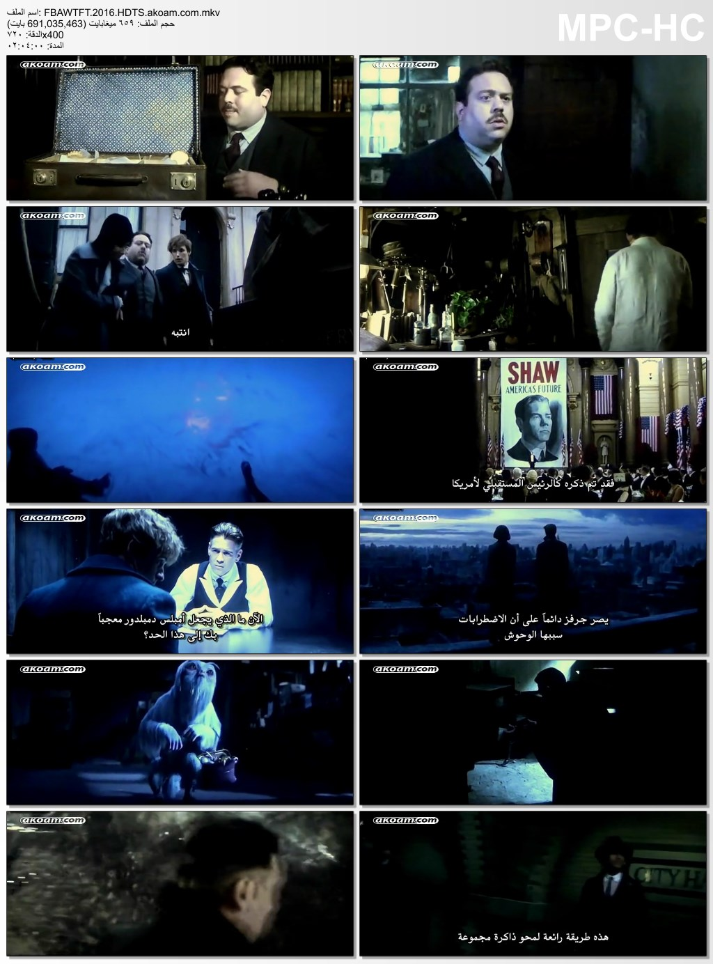 Fantastic Beasts and Where to Find Them,المغامرات,العائلي,الفانتازيا