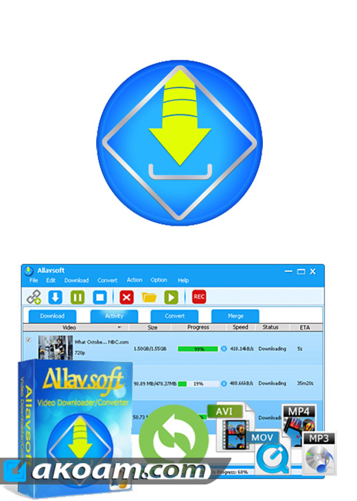 برنامج Allavsoft Video Downloader Converter v3.14.2.6308