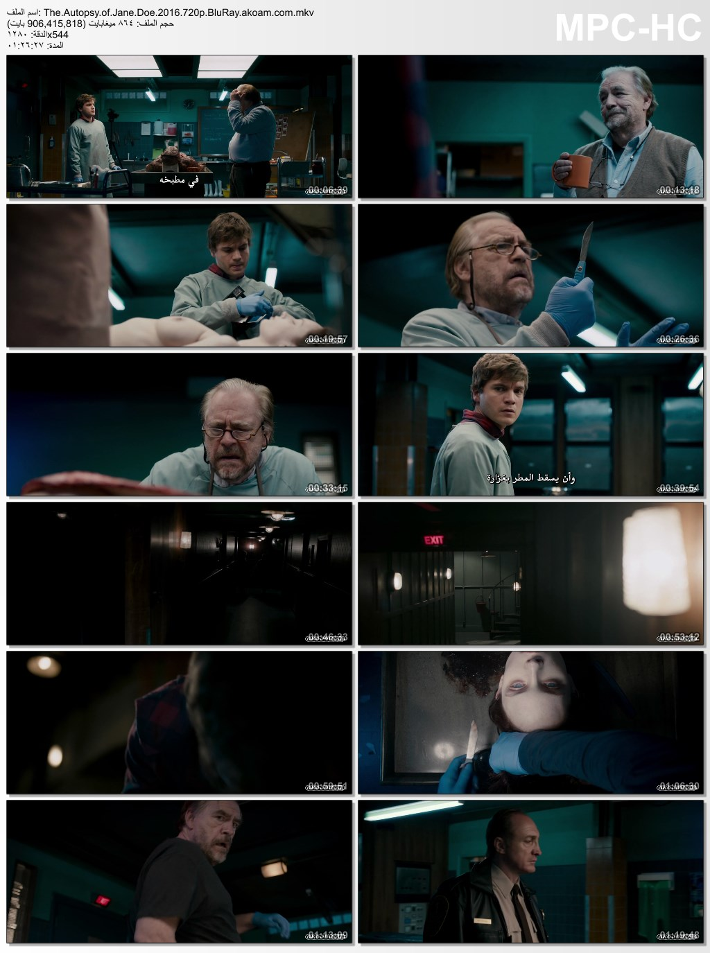 الغموض,الرعب,The Autopsy of Jane Doe