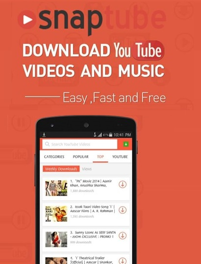 برنامج Snaptube - Youtube Downloader Hd Video v4.18.0.8810