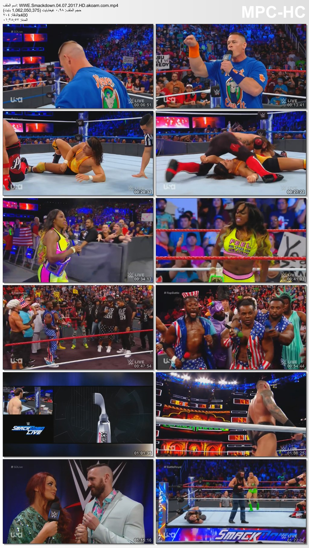 WWE Smackdown Live,سماك داون,Smackdown,WWE