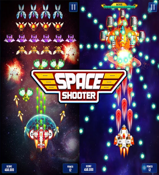 لعبة Galaxy Attack Space Shooter MOD للأندرويد