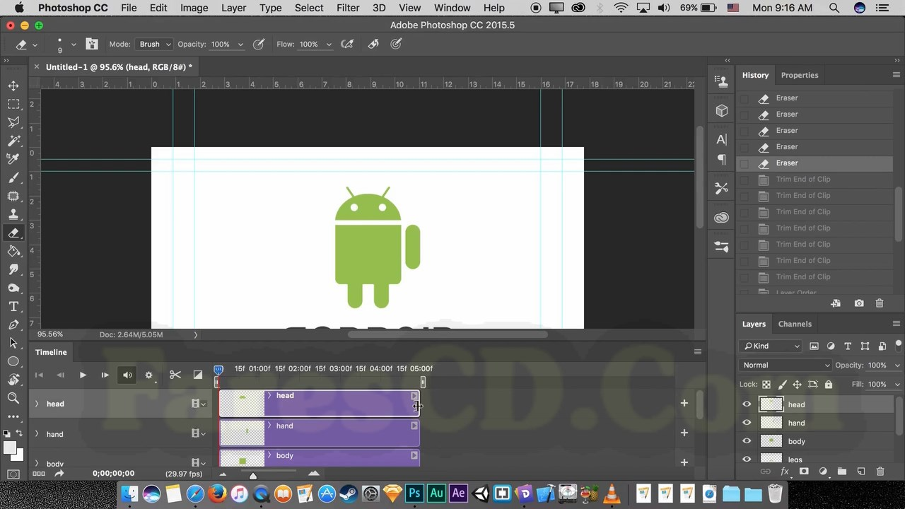 Animate The Android Logo in Photoshop,The Android Logo,تصميم لوجو أندرويد,تصميم لوجو أندرويد متحرك