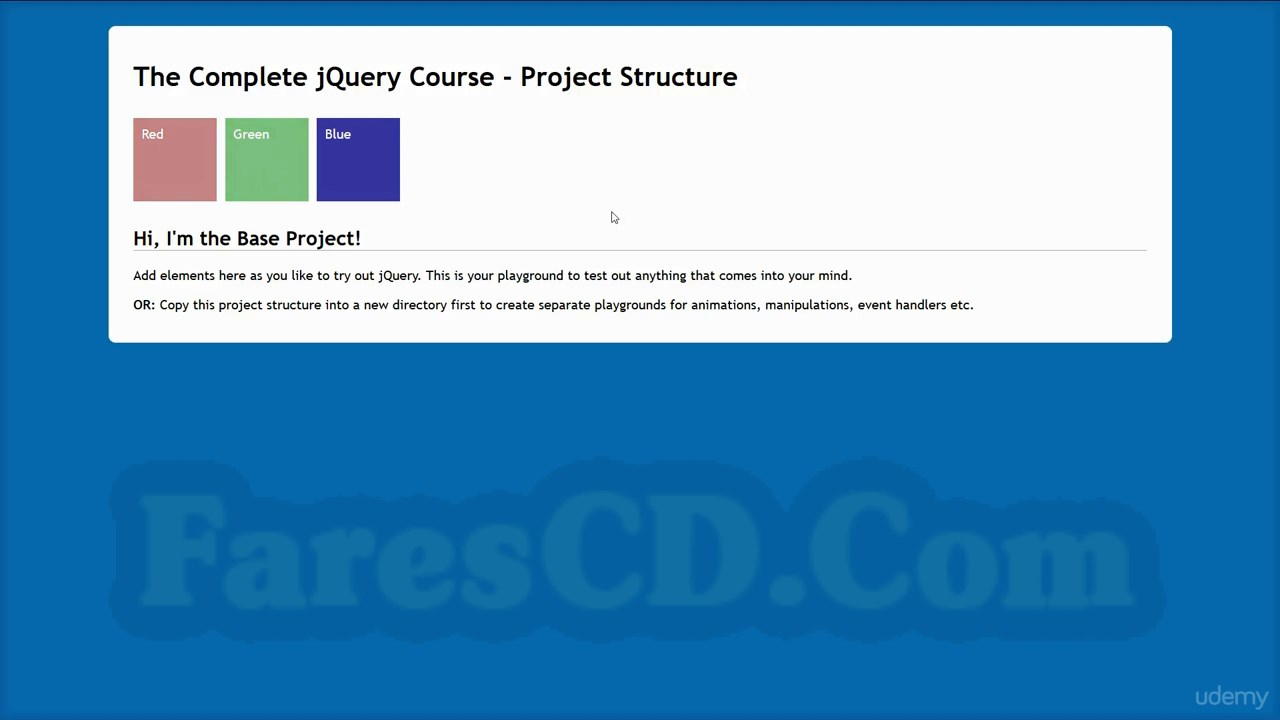 كورس جى كويرى,The Complete jQuery Course,jQuery Course