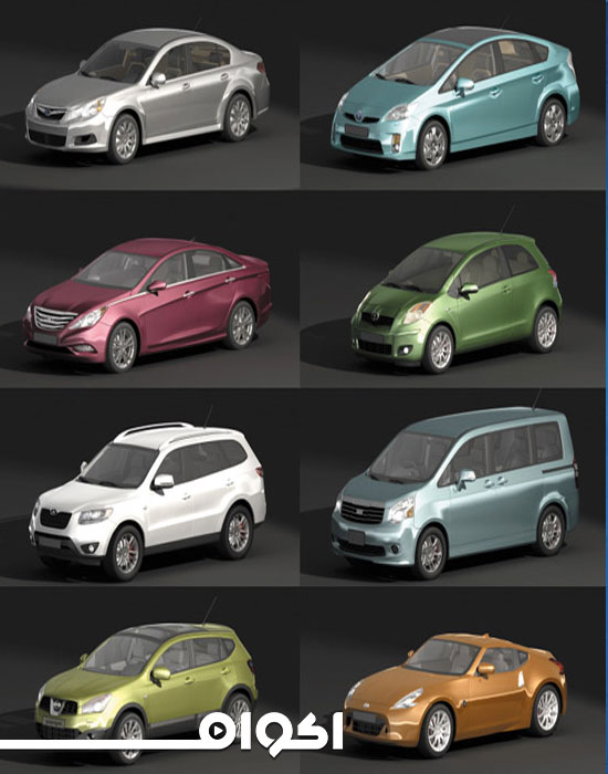 حزمة 24 Car 3D Model Bundle