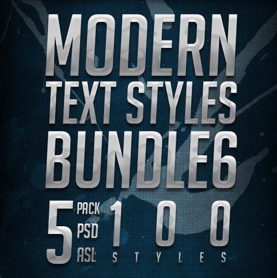 حزمة Modern Text Styles Bundle 6