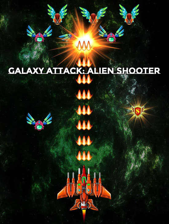 لعبة Galaxy Attack Alien Shooter MOD للأندرويد