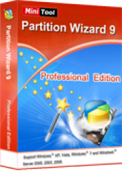 عملاق تقسيم الهارد ديسك MiniTool Partition Wizard Professional 9.0 Retail