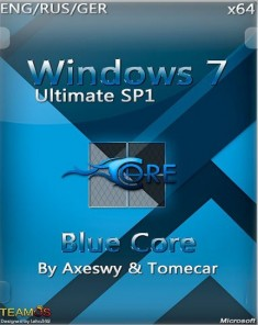 ويندوز Windows 7 Blue Core x64 2015