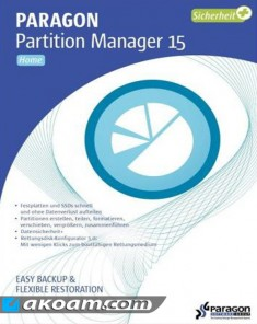 برنامج Paragon Partition Manager 15 Home 10.1.25.779