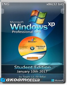 ويندوز Windows XP Pro SP3 Corporate Student Edition January 2017