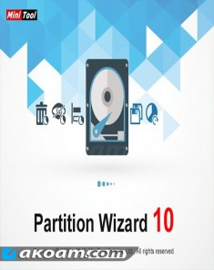 برنامج تقسيم الهارد ديسك MiniTool Partition Wizard Pro Ultimate 10.2.1 BootCD