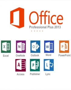 برنامج Microsoft Office 2013 SP1 Pro Plus + Visio + Project Pro June 2018