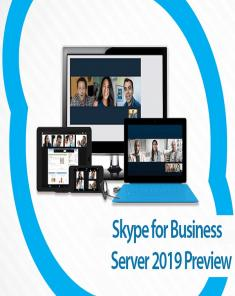 برنامج Microsoft Skype for Business Server 2019